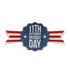 Patriot day 11th september banner vector