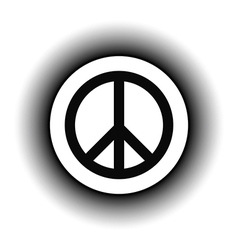 Peace symbol buttom vector