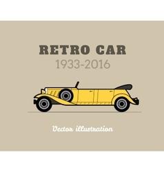 Retro limousine cabriolet car vintage collection vector image vector image