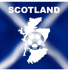 Scottish abstract map with football vector