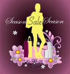 season sale vector image vector image