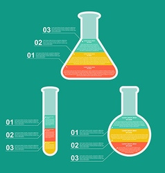 Set flat modern infographic on science and vector image