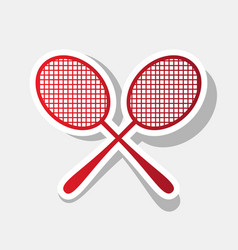 Tennis racquets sign new year reddish vector