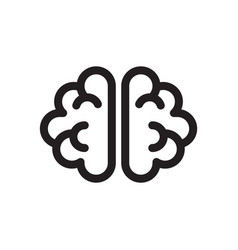 thin line brain icon vector image vector image