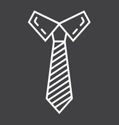 Tie line icon business and necktie vector