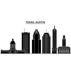 usa texas austin architecture city skyline vector image vector image