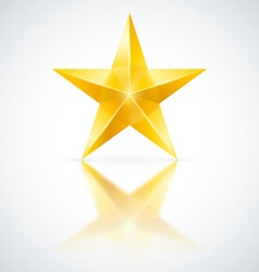 Yellow star vector image vector image