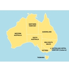 Australia map with states and territories vector