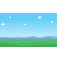 Nature background landcape vector