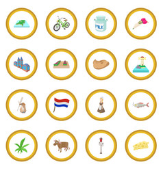 netherlands icon circle vector image