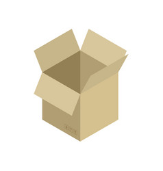 Cardboard box open isolated containers for moving vector