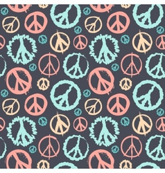 Retro peace symbol seamless vector
