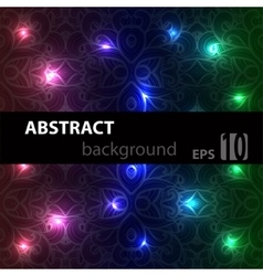 Abstract disco glowing ornament of background vector