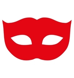 Privacy mask flat red color icon vector