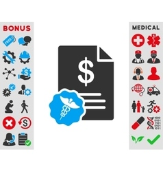 Medical prices icon vector
