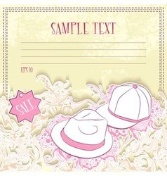 Message card with men hats vector image