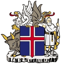 Coat of arms of iceland vector