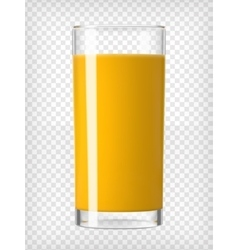 Orange juice in a glass vector