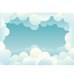 Clouds background image for design vector image