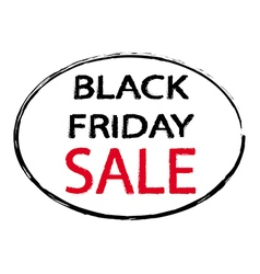 America black friday sale sign stamp style vector