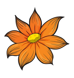 An orange flower vector image vector image