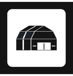Barn icon in simple style vector image