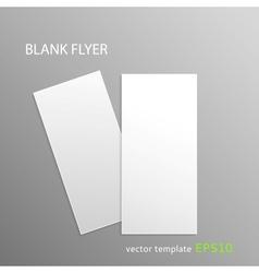 Blank flyer vector image vector image