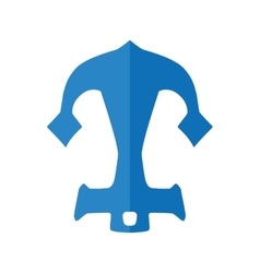 Blue anchor icon sea lifestyle design vector