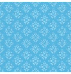 blue seamless ornamental pattern vector image