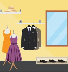 Clothes store vector image