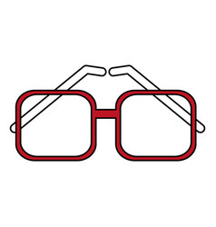 flat line glasses design vector image