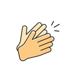 Hands clapping icon applause vector
