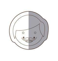 Happy man people icon vector