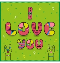 I love you card for gay women in love vector