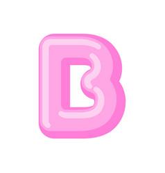 Letter b candy font caramel alphabet lollipop vector