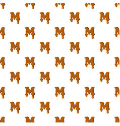 Letter m from caramel pattern vector