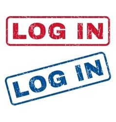 Log in rubber stamps vector