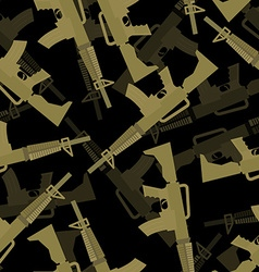 Military M16 rifle seamless pattern 3d background vector image vector image