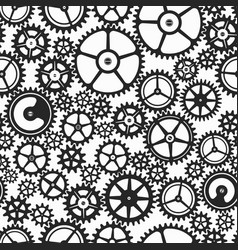 Monochrome clockwork seamless pattern vector