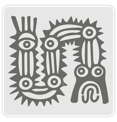 monochrome icon with American Indians art vector image vector image