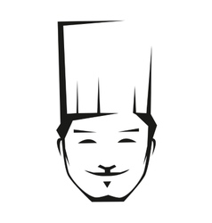 Smiling young chef in a toque vector image vector image