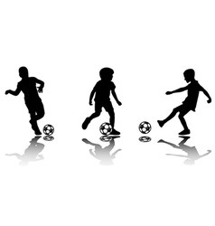 soccer kids vector image vector image