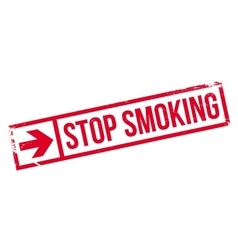 Stop smoking stamp vector