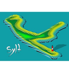 sylt vector image