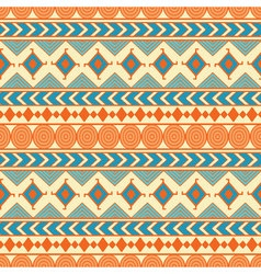 Tribal seamless pattern Ethnic abstract geometric vector image vector image