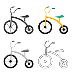 tricycle icon in cartoon style isolated on white vector image vector image