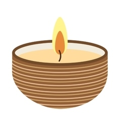 Candle flame spa icon vector
