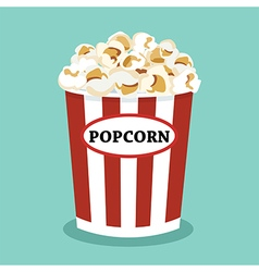 Set of popcorn flat design vector