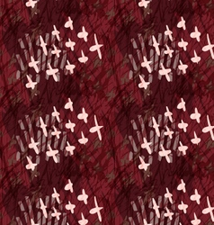 Marker hatched deep red with crosses vector