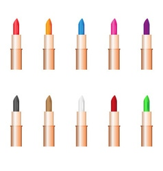 Beauty woman care lipstick color variations eps10 vector